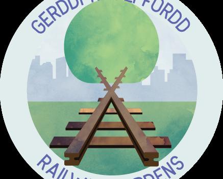 Logo: Gerddi Rheilffordd, Railway Gardens