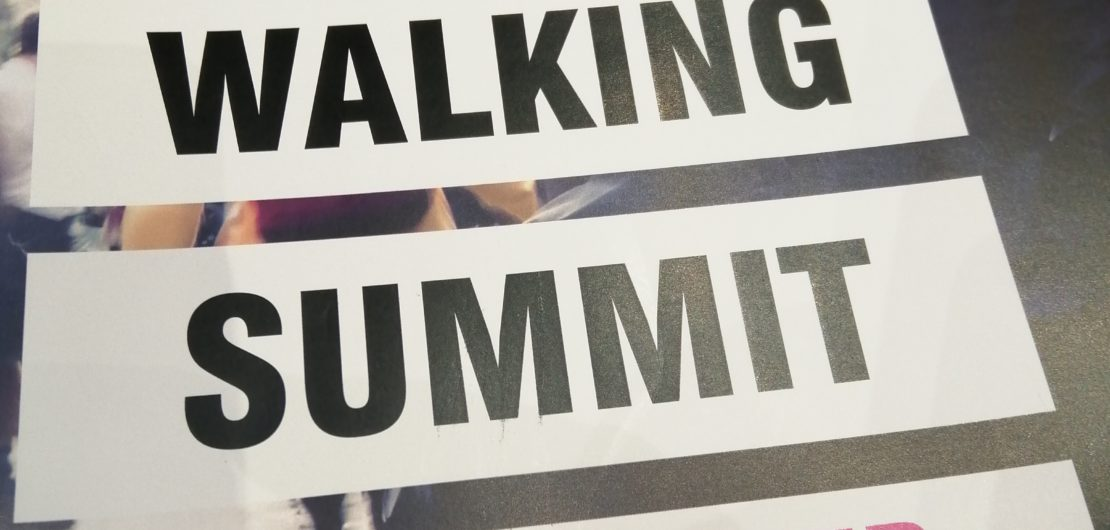 Brochure cover: National Walking Summit, Manchester 6 March 2020